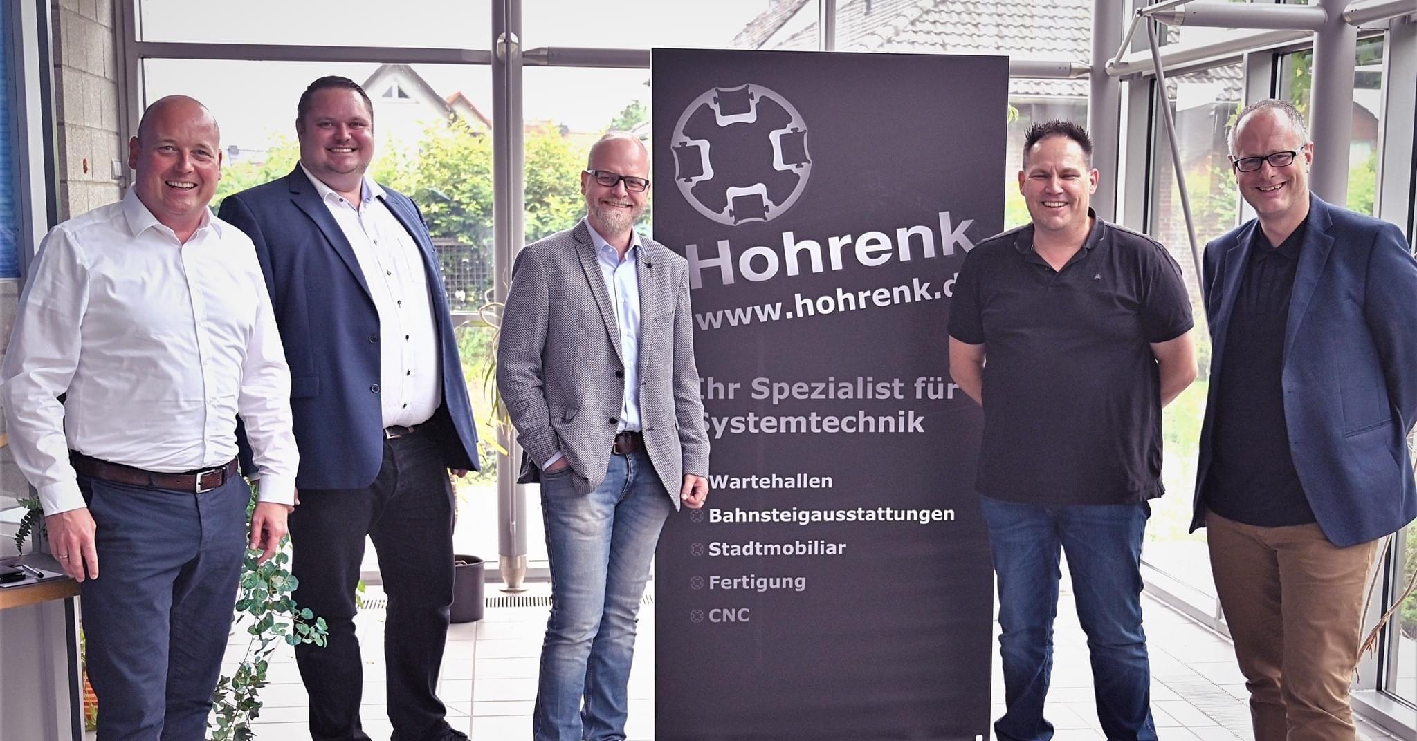 Holger Bormann Besuch bei Firma Hohrenk