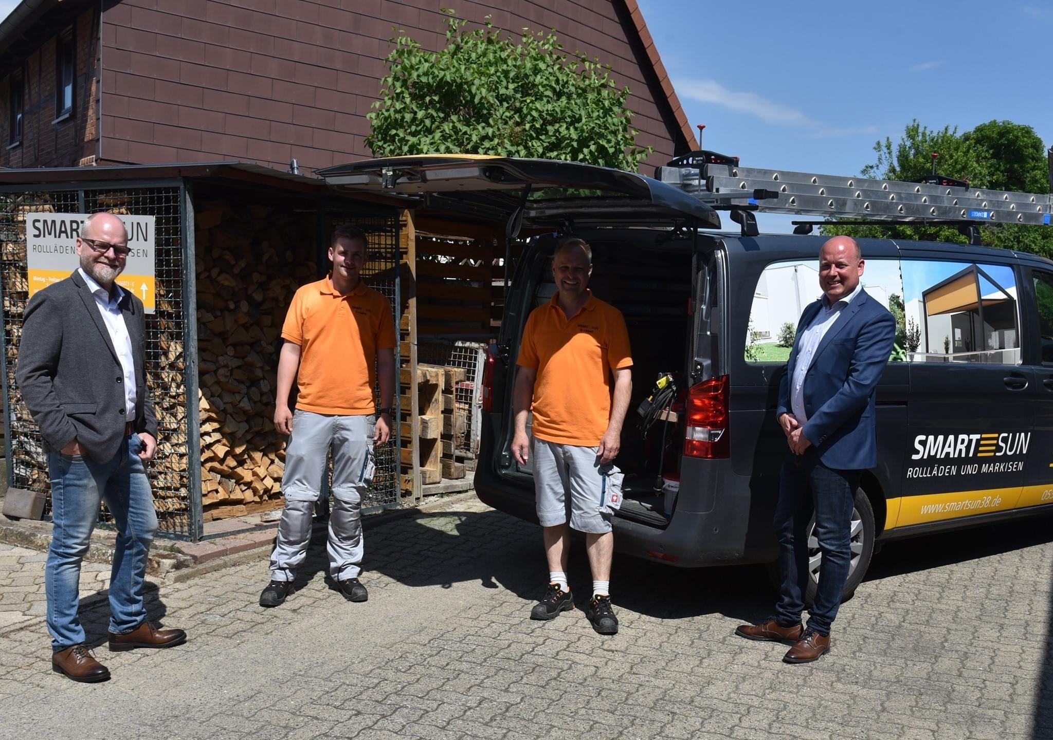 Holger Bormann Besuch bei Smart Sun