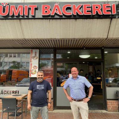 Holger Bormann zu Besuch Ümit Bäckerei